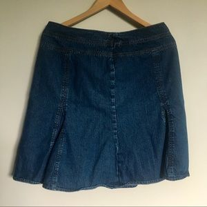 Chaps denim skirt